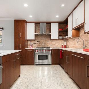 75 Beautiful Midcentury Modern Terrazzo Floor Kitchen