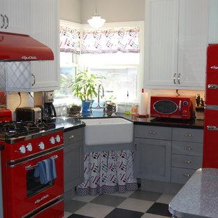 Retro Red Stockton Kitchen