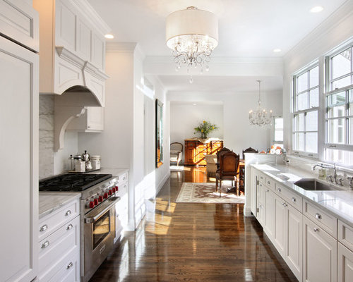 White Shaker Cabinets Galley Kitchen white galley kitchen | houzz