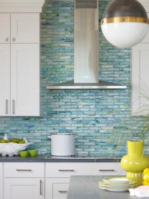 Kitchen Glass Tile Backsplash Home Design Ideas