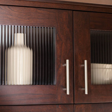 Ribbed glass fro kitchen cabinets