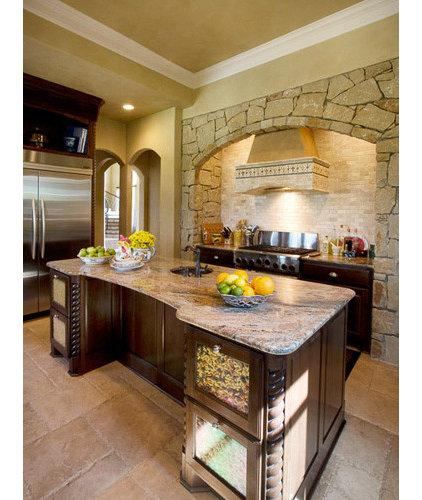 Mediterranean Kitchen by Richens Designs, Inc.