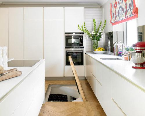 contemporary kitchen photos   inspiration for a contemporary kitchen remodel in london with flat panel 1930 kitchen ideas  u0026 photos   houzz  rh   houzz com