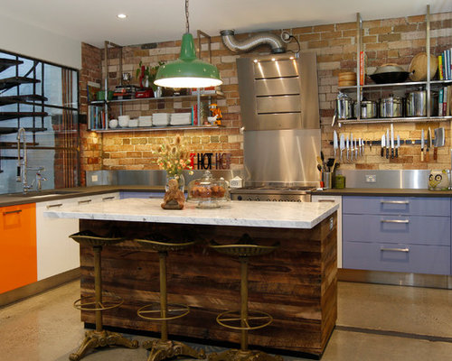 Orange Kitchen Cabinets Home Design Ideas Pictures Remodel And Decor