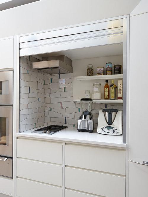 Mini kitchen houzz - Cocinas ocultas ...