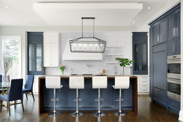 Transitional Kitchen by Evelyn Eshun Design Inc.