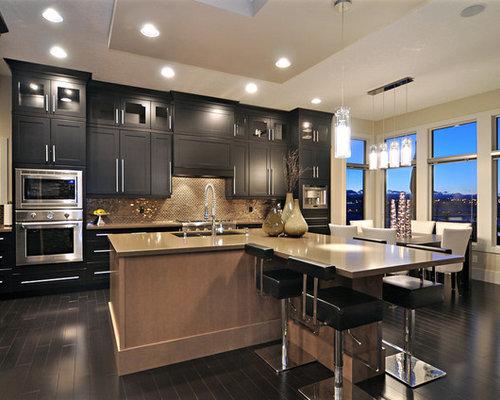 Kitchen Cabinets Flat Panel With Insert Backsplash