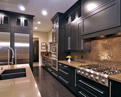 Inspiration For A Contemporary Kitchen Remodel In Calgary With Stainless Steel Appliances A Double