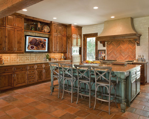 Stained Cabinets Painted Island Home Design Ideas, Pictures, Remodel and Decor
