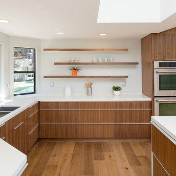 rift cut walnut Kitchen cabinets