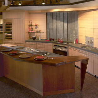 Rift Cut White Oak kitchen with Black Walnut Island