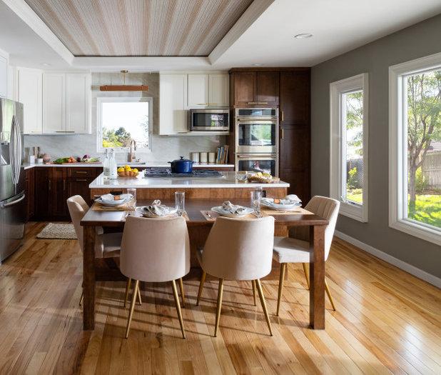 トランジショナル キッチン by Truss Interiors & Renovations