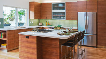 Rio Del Mar Kitchen With Natural Lighting and Wood Cabinetry