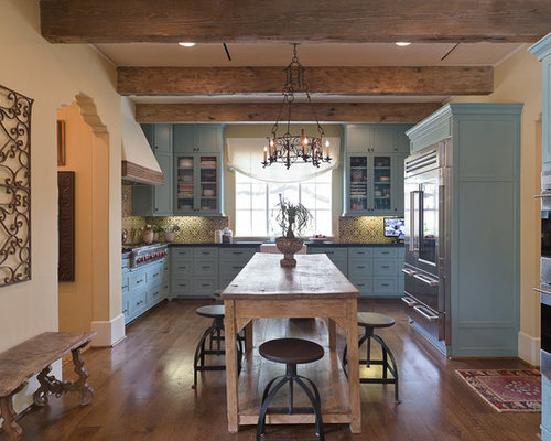 25 Best Farmhouse Kitchen with Turquoise Cabinets Ideas | Houzz