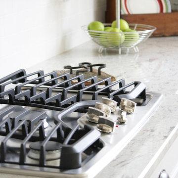 River White Granite Kitchen