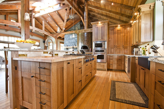 Rustic Kitchen by A Collaborative Design Group
