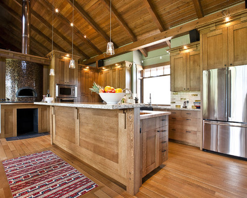 Rough Sawn Oak Cabinets Home Design Ideas, Pictures, Remodel and Decor