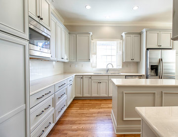 Riverdale Remodel   Gray Cabinets