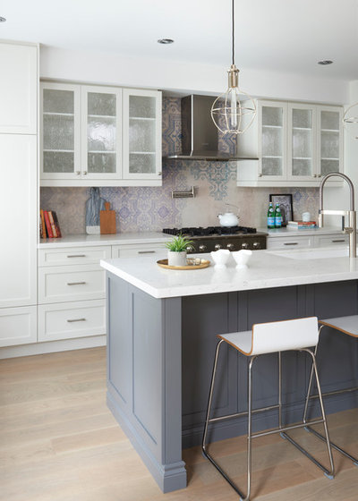 Transitional Kitchen by Soda Pop Design Inc.