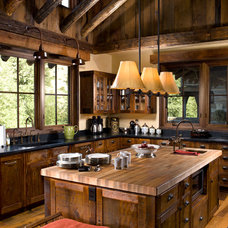 Rustic Kitchen by Rocky Mountain Homes