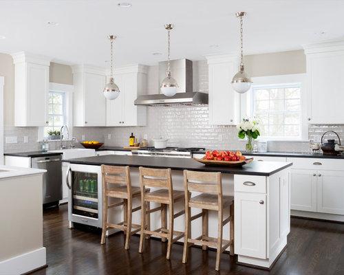 Mid Sized Kitchen With Granite Countertops Design Ideas