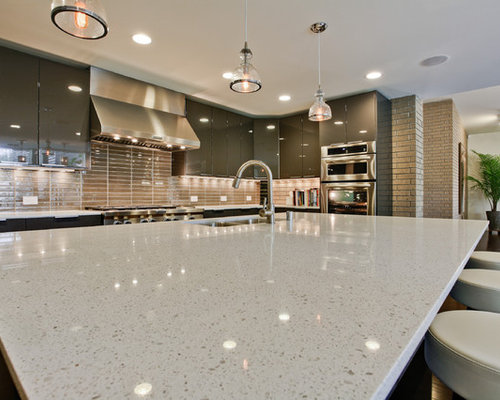 Sparkly Quartz Countertop Ideas, Pictures, Remodel and Decor