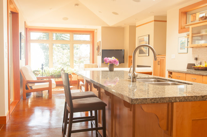 Transitional Kitchen by Ryan Nelson Photography