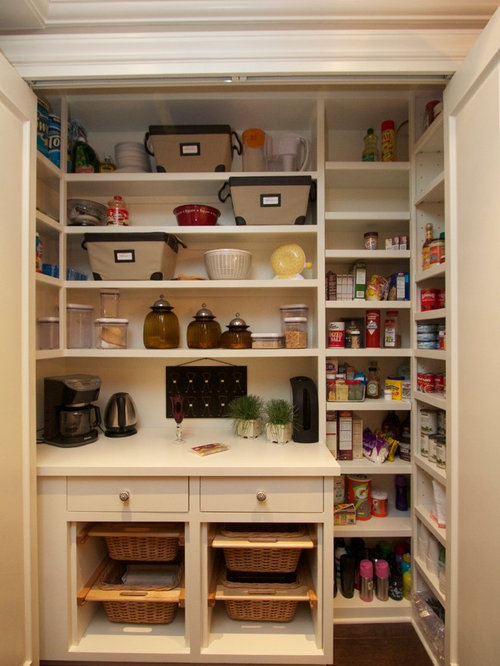 Transitional Kitchen Pantry with a Farmhouse Sink Design Ideas & Remodel Pictures | Houzz