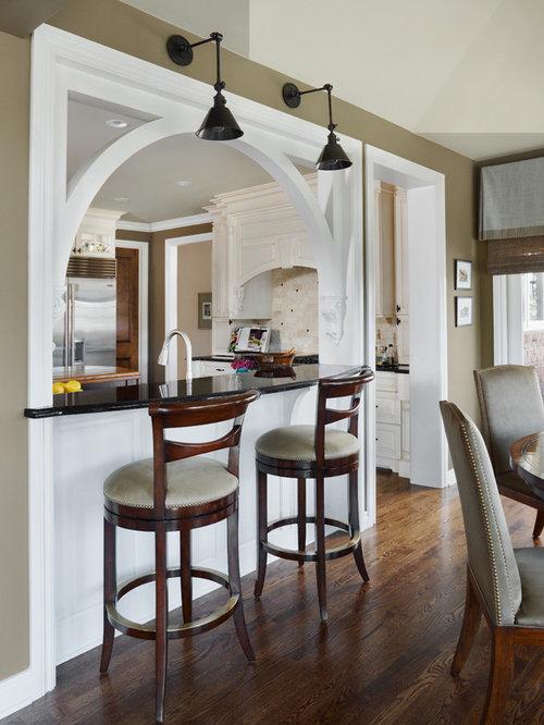 Arched pass through home design ideas renovations photos for Pass through kitchen ideas