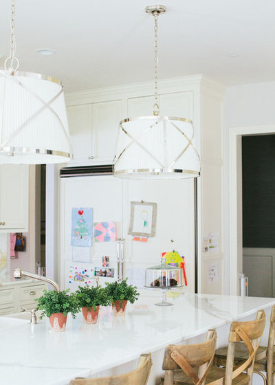 Transitional Kitchen by Kate Marker Interiors