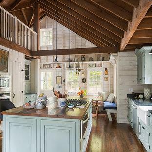Rock Hill, NY - Farmhouse - Reclaimed Oak Counter