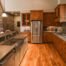Traditional Kitchen by Living Stone Construction, Inc.