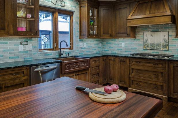 Craftsman Kitchen by Stone Creek Custom Kitchens & Design
