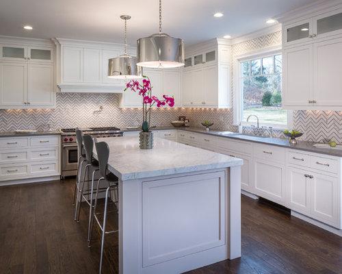 Chevron Backsplash Home Design Ideas Pictures Remodel