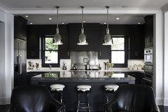 black kitchen walls
