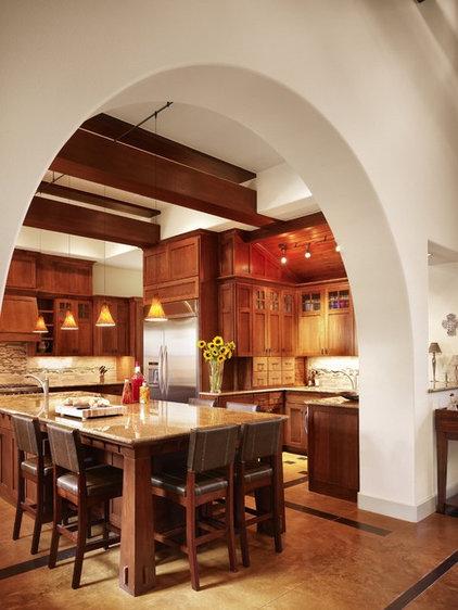 Craftsman Kitchen by Cornerstone Architects