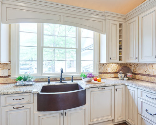 Inspiration For A Timeless Kitchen Remodel In Atlanta With Raised Panel  Cabinets