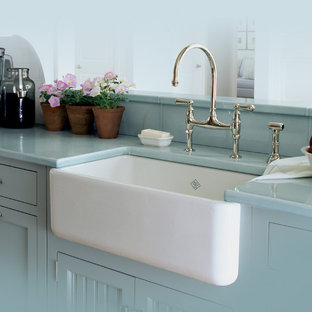 Rohl Single Bowl Fireclay Apron Kitchen Sink