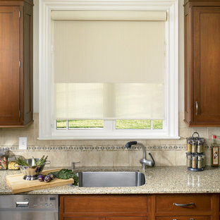 e59b28dcde8 Kitchen - traditional kitchen idea in Boston. Save Photo. Roller Shades