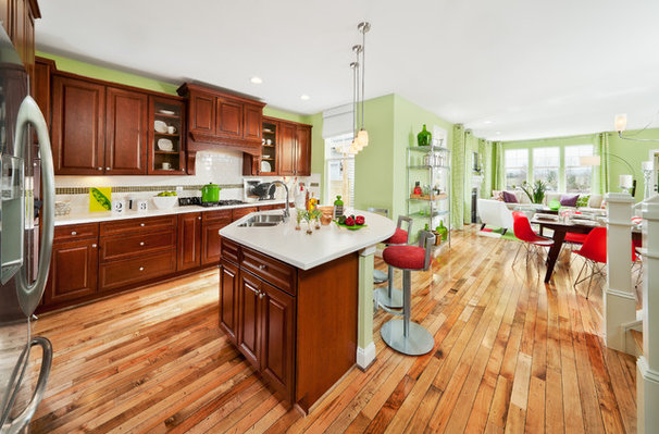 Contemporary Kitchen by Carlyn And Company Interiors + Design