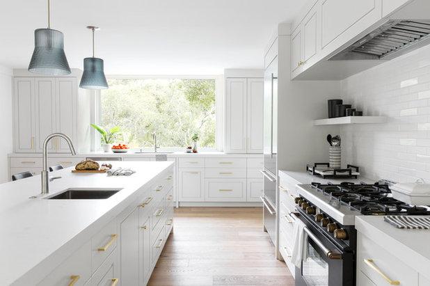 Transitional Kitchen by Caitlin Jones Design
