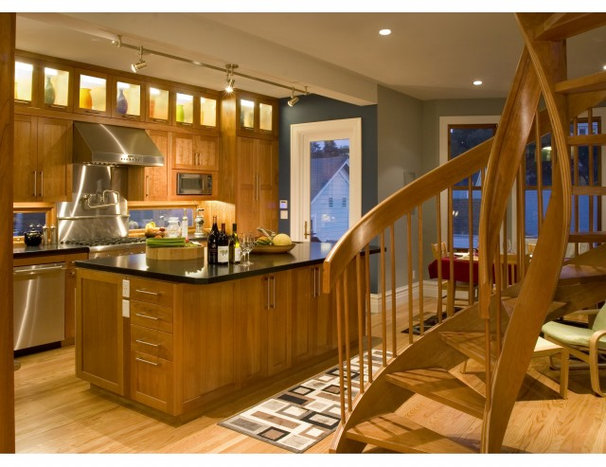 Transitional Kitchen by Rossington Architecture