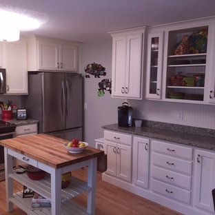 Roswell Kitchen Remodel, White Contemporary Shaker & Beadboard