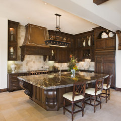 mediterranean kitchen by Cornerstone Architects