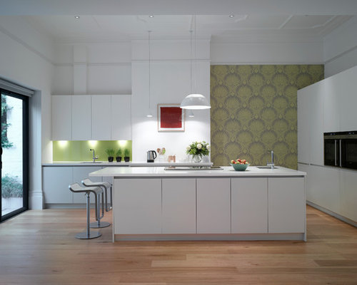 Kitchen contact paper houzz for Modern kitchen wallpaper ideas