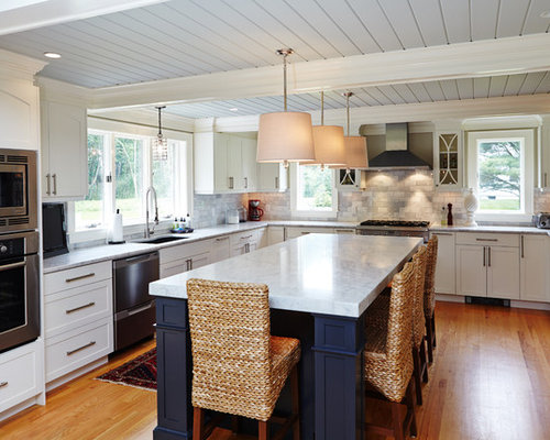 Low ceiling houzz for Low ceiling kitchen