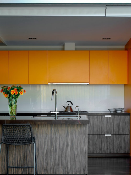 Modern kitchen ideas - Example of a minimalist kitchen design in Sydney  with flat-panel