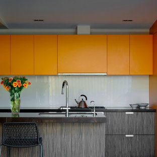 Modern Kitchen Ideas Example Of A Minimalist Design In Sydney With Flat Panel