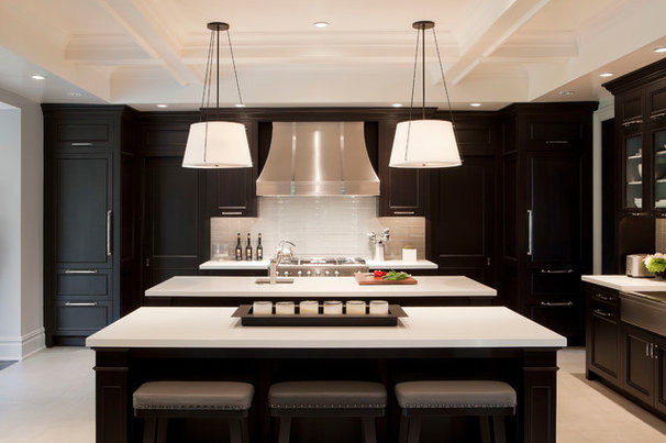 Transitional Kitchen by Tamara Magel Studio