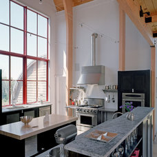 Contemporary Kitchen by Barlis Wedlick Architects, Hudson River Studio